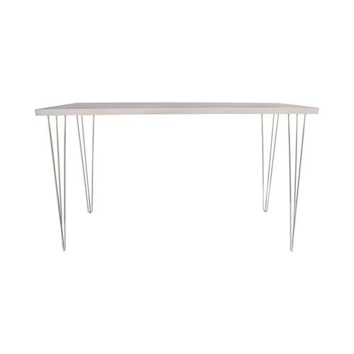 Whitewash Cocktail Table with White Hairpin Leg 183(L)