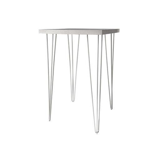 Whitewash Square Cocktail Table