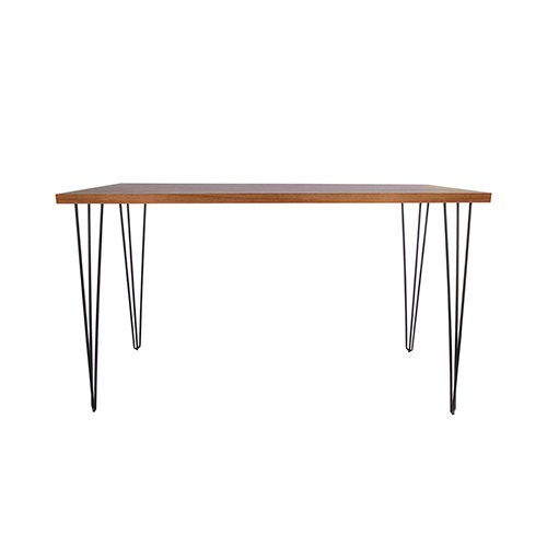 Woodwash Cocktail Table with Black Hairpin Leg 183(L)