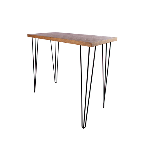 Woodwash Rectangle Cocktail Table with Black Hairpin Leg