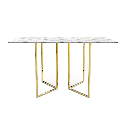 Zelda Gold Rectangle Cocktail Table