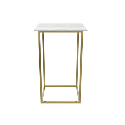 Zelda Gold Square Cocktail Table
