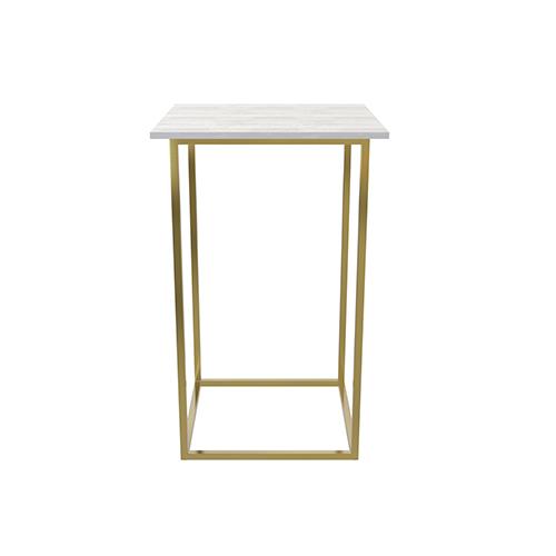 Zelda Gold Square Cocktail Table