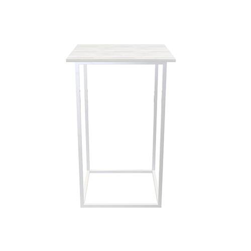 Zelda Square Cocktail Table - White