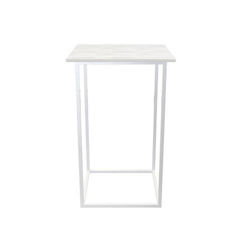 Zelda Square Cocktail Table - White