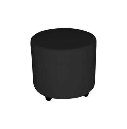Round Ottoman Small - Black