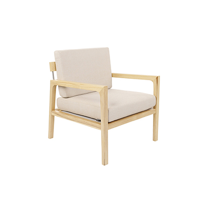 scandinavian Lounge Chair - Beige