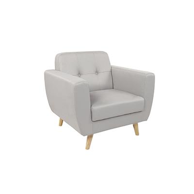 Scandinavian Single Seater Sofa Grey