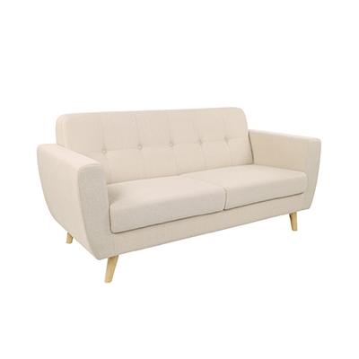 Scandinavian Two Seater Sofa Beige