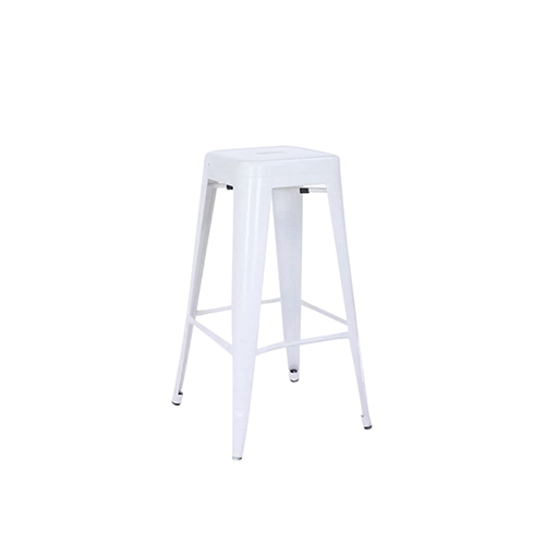 Tolix Bar Stool (White) without Back Rest