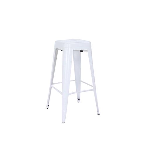Tolix Bar Stool (White) without Back Rest