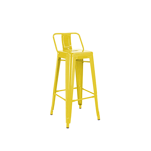 Tolix Bar Stool (Yellow)