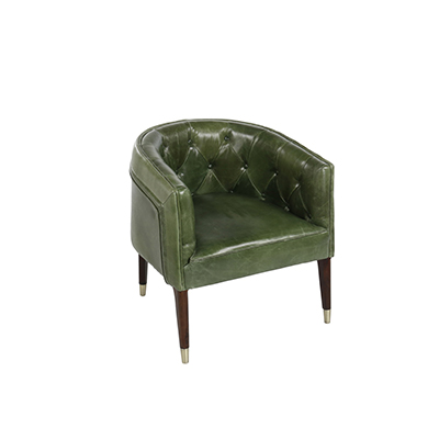 Vintage Chesterfield Lounge Chair - Green